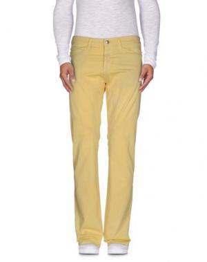 Повседневные брюки 9.2 BY CARLO CHIONNA. Цвет: светло-желтый