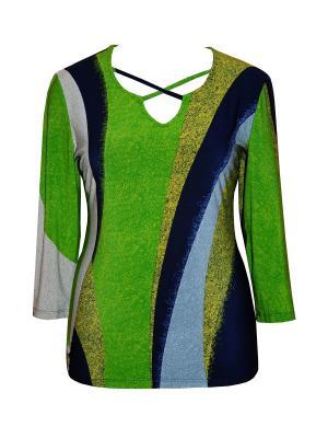 Блузка Dream World. Цвет: зеленый, синий