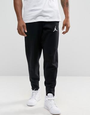 Jordan Черные зауженные джоггеры Nike Flight 823071-010. Цвет: черный