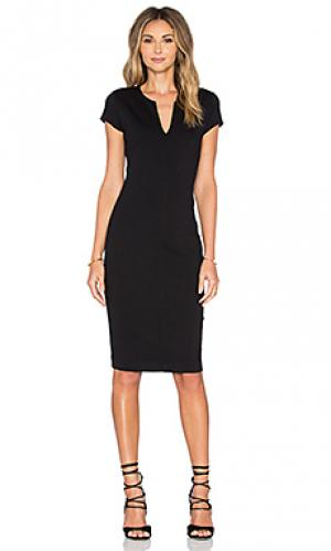 Миди платье с коротким рукавом Eight Sixty. Цвет: черный