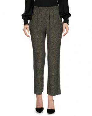 Повседневные брюки SUOLI. Цвет: зеленый-милитари