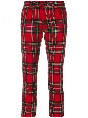 Укороченные брюки с принтом тартан Junya Watanabe Comme Des Garçons. Цвет: красный