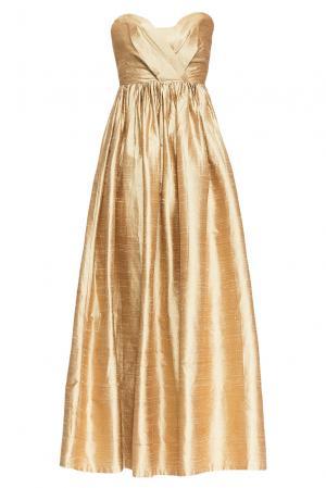 Платье из шелка 165194 Villa Turgenev. Цвет: желтый