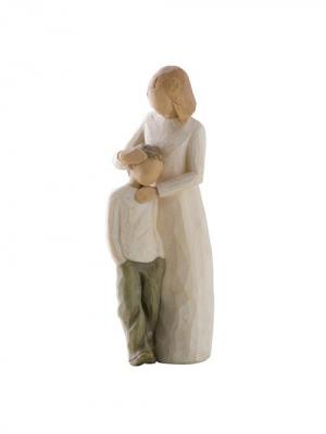 Фигурка Willow Tree (Мама и сын, 21 см). Цвет: серый