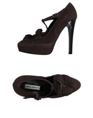 Туфли MARIO CERUTTI. Цвет: темно-коричневый