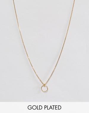 Dogeared Позолоченное ожерелье. Цвет: золотой