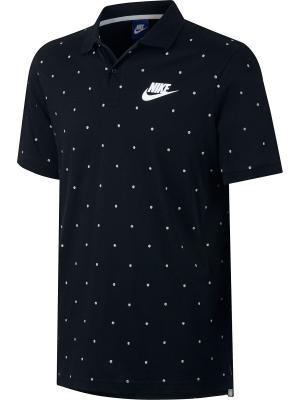 Футболка-поло M NSW POLO SS MATCHUP PRT Nike. Цвет: черный, белый