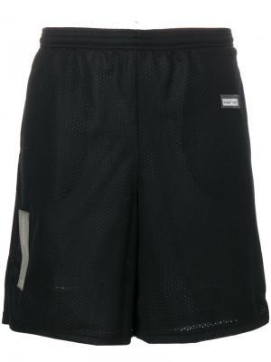 Perforated track shorts Off-White. Цвет: чёрный