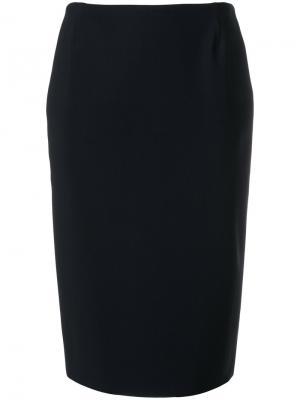 Классическая юбка-карандаш Chiara Boni La Petite Robe. Цвет: чёрный