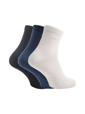 Носки ECCO. Цвет: белый, синий