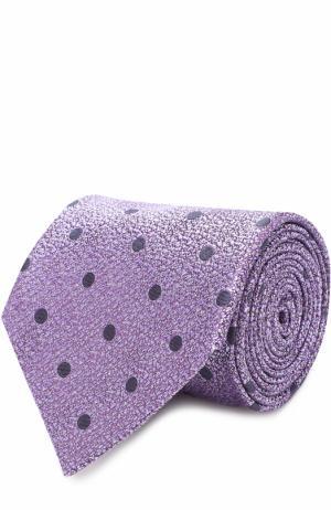 Шелковый галстук с узором Ermenegildo Zegna. Цвет: лиловый