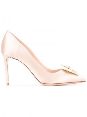 Туфли Eden с отделкой стразами Nicholas Kirkwood. Цвет: розовый и фиолетовый