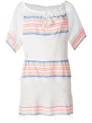Drawstring neck mini dress Lemlem. Цвет: белый