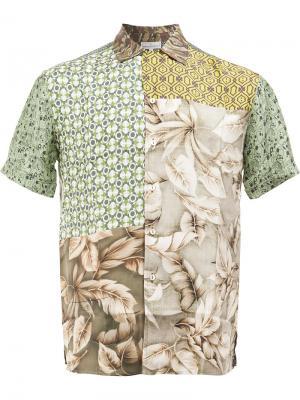 Patchwork shirt Pierre-Louis Mascia. Цвет: зелёный