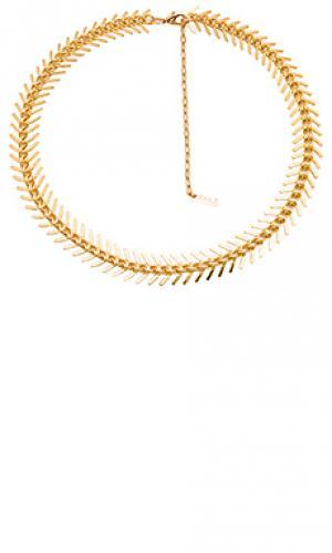 Fishbone choker joolz by Martha Calvo. Цвет: metallic gold