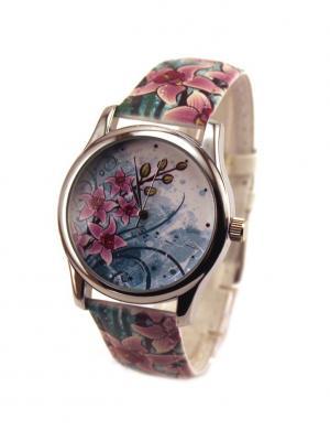Дизайнерские часы Orchid Tina Bolotina. Цвет: морская волна, голубой, розовый