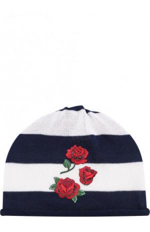 Хлопковая шапка с аппликацией Catya. Цвет: синий