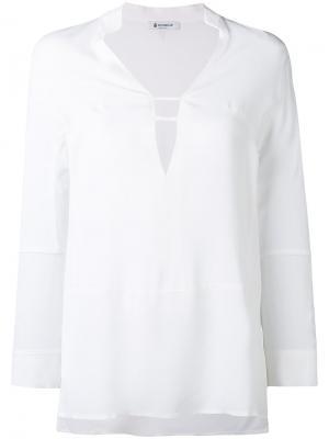 Блузка с V-образным вырезом Dondup. Цвет: белый