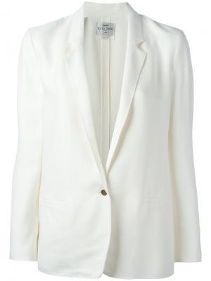 Пиджак  с застежкой на пуговицу Forte. Цвет: белый