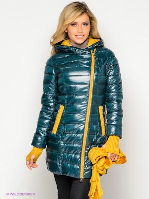 Пальто X'cluSIve. Цвет: темно-зеленый