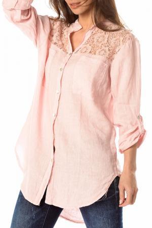 Рубашка LA BELLE PARISIENNE. Цвет: розовый