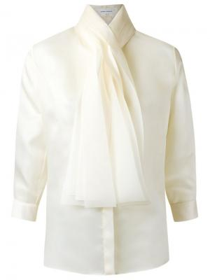 Bow detail shirt Gloria Coelho. Цвет: белый