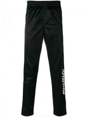 Спортивные брюки с полосками по бокам Misbhv. Цвет: чёрный