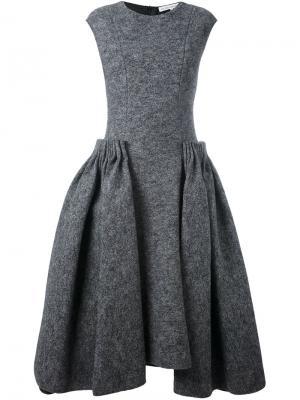 Расклешенное платье Stefano Mortari. Цвет: серый