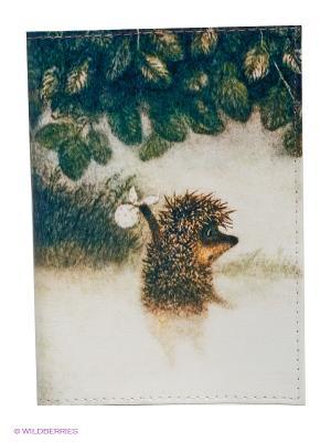 Обложка для паспорта Ежик в тумане Mitya Veselkov. Цвет: зеленый