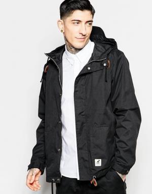 Fat Moose Черная куртка Sailor. Цвет: черный