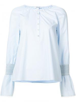 Henley blouse Derek Lam 10 Crosby. Цвет: синий