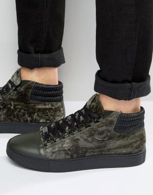 Glorious Gangsta Высокие кроссовки Paris. Цвет: зеленый
