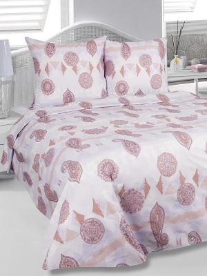 Комплект 1,5-спального постельного белья Шарм, бязь Тет-а-Тет. Цвет: сиреневый, бледно-розовый, персиковый