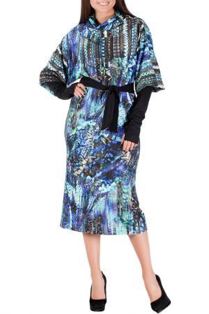 Платье Mannon. Цвет: зелено-фиолетовый
