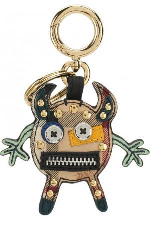 Брелок для ключей с подвеской Creature Burberry. Цвет: зеленый