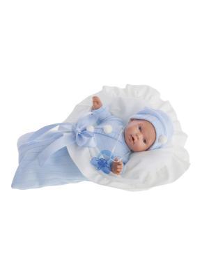 Кукла Ланита в голубом., плачущая, 27 см Antonio Juan. Цвет: голубой