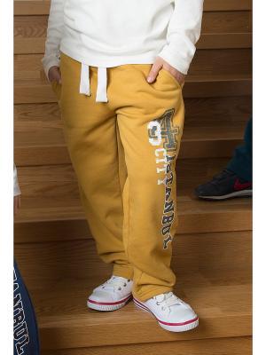 Спортивные брюки WonderKids. Цвет: горчичный