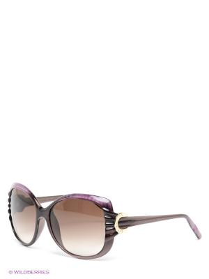 Солнцезащитные очки Borsalino. Цвет: сиреневый, коричневый