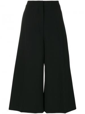 Широкие укороченные брюки Stella McCartney. Цвет: чёрный