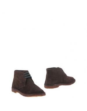 Полусапоги и высокие ботинки DANIELA FARGION. Цвет: темно-коричневый