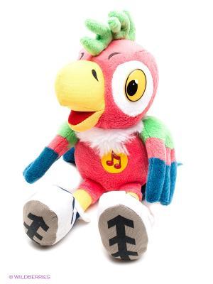 Мягкая игрушка Мульти-пульти попугай кеша. Цвет: розовый, желтый, синий, салатовый