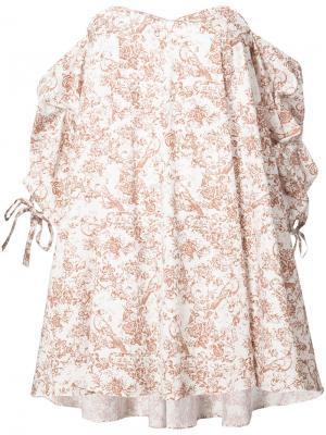 Платье Gabriella Caroline Constas. Цвет: белый