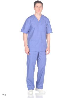 Блузка медицинская Med Fashion Lab. Цвет: серо-голубой