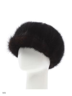 Женская Кепи из хвостов норки темно-коричневая Mex-Style. Цвет: коричневый