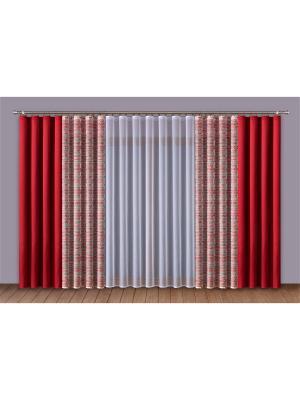 Комплект штор Wisan. Цвет: красный