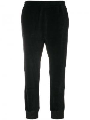 Укороченные брюки 8pm. Цвет: чёрный