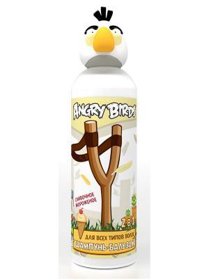 Шампунь-бальзам 2 в 1 для всех типов волос (белая птица) ANGRY BIRDS. Цвет: белый