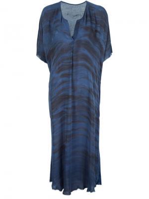 Платье свободного кроя Raquel Allegra. Цвет: синий