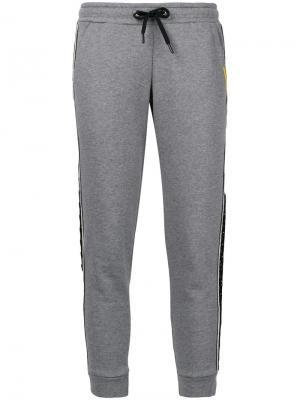 Укороченные спортивные брюки Sàpopa. Цвет: серый