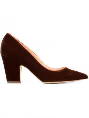 Туфли на массивном каблуке Rupert Sanderson. Цвет: коричневый